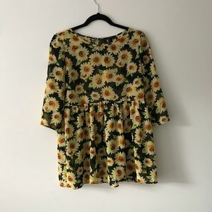 Sunflower long sleeve top